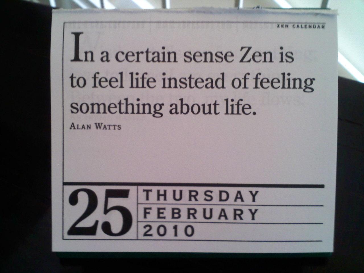 zen calender