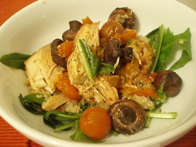 Chicken with Dandelion Greens