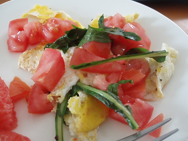 Egg with Dandelion Greens