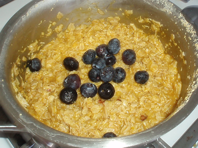 pumpkin and blueberry oatmeal