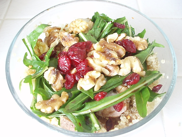 Quinoa and Dandelion Salad