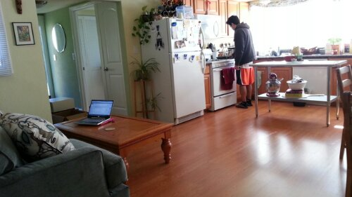 Watching The All-Star cook breakfast  for me while I blog