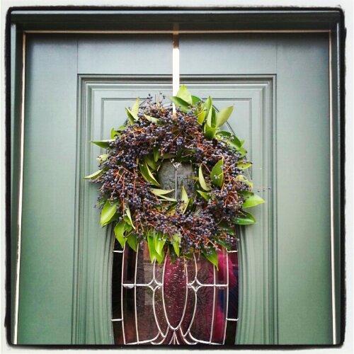 eucalyptus wreath - instagrammed