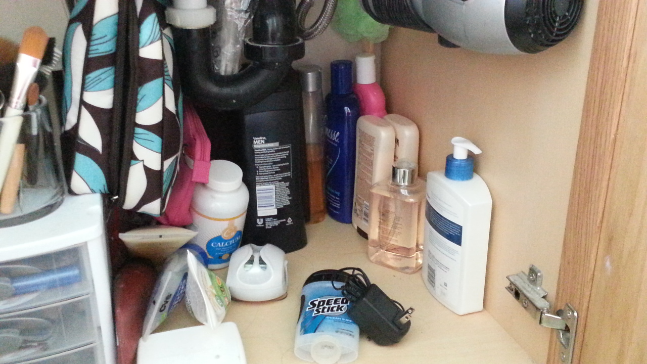 back of bathroom cabinet