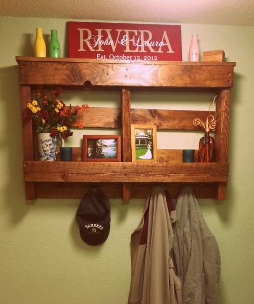 Pallet shelf  by Laura @ CYW