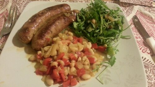 Sausage w/ White Bean Salad